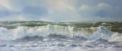 Surf - 21st Century Contemporary Seascape Oil Painting of Waves