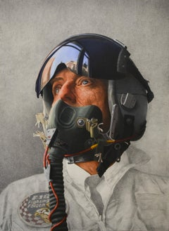 """Air Force Boy I"" Erik De Jong, 21st Century Contemporary Oil Painting"