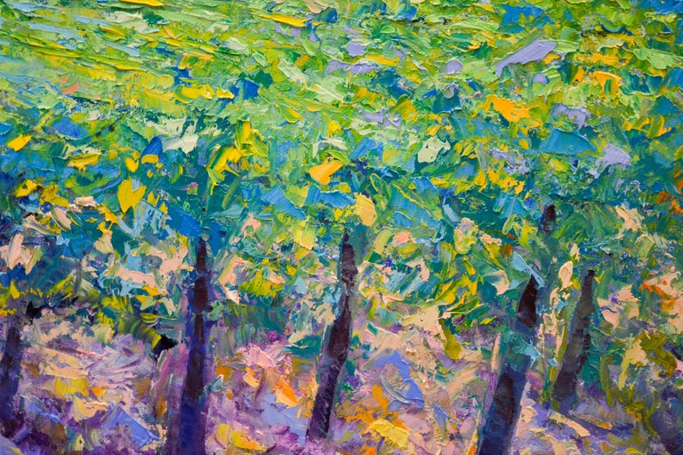 Vineyard - Ronald Soeliman, 21st Century Contemporary Oil Painting Landscape For Sale 1