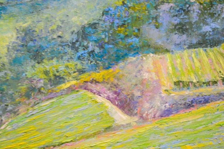 Vineyard - Ronald Soeliman, 21st Century Contemporary Oil Painting Landscape For Sale 3