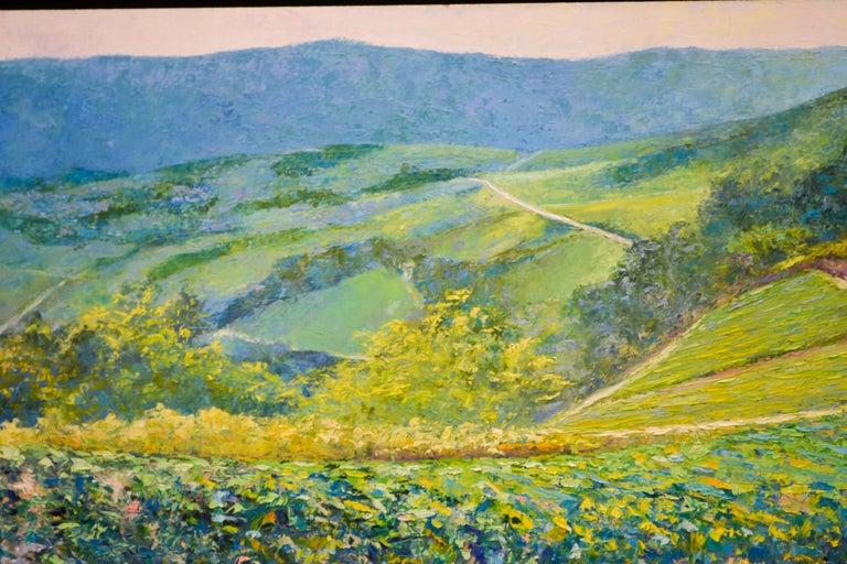 Vineyard - Ronald Soeliman, 21st Century Contemporary Oil Painting Landscape For Sale 4