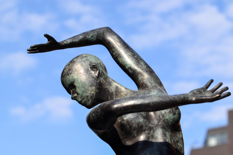 Freedom - Andries Velting 21st Century Contemporary Bronze Sculpture Patina  - Gold Figurative Sculpture by Andries Velting