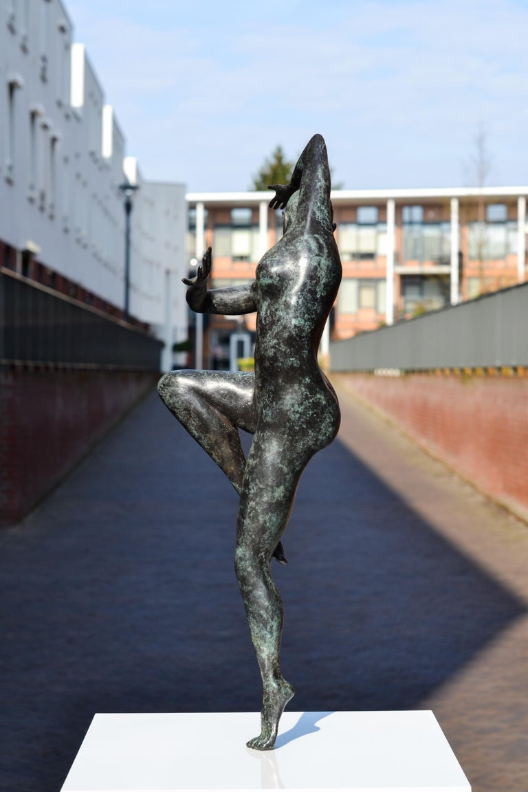 Freedom - Andries Velting 21st Century Contemporary Bronze Sculpture Patina  For Sale 13