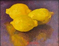 Three Lemons - 21st Century Contemporary Dutch Still-life  Painting