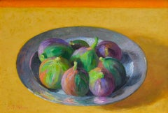 Tin Plate with Figs - 21st Century Contemporary Dutch Still-life Painting