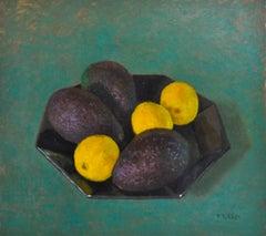 Avocados and Lemons - 21st Century Contemporary Dutch Still-life Painting