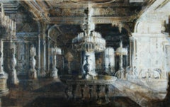 Dolmabahçe- 21st Century Contemporary Interior Painting by Dutch Artist