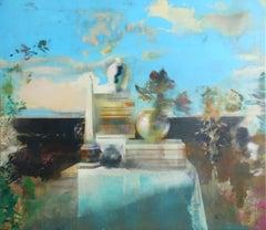 Still-life on a Field Edge-21st Century Contemporary Still-life Painting
