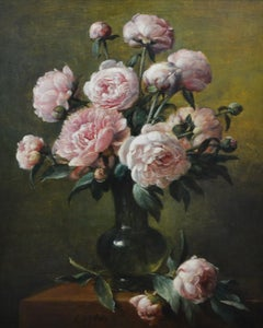 Flowers in Vase - Cornelis Le Mair, 17th Century Styled Painting,