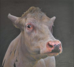 Portrait 76 - Paul Jansen, 21st Century Contemporary Oil Painting of a Cow