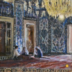 Edirne - Sylvia van Opstall 21st Century Contemporary Oil Painting Interior
