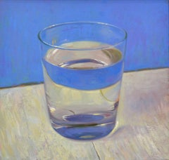 Glass Of Water- 21st Century Contemporary Dutch Still-life Macro Painting
