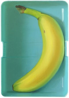 Banana in a lunchbox- 21st Century Contemporary Dutch Still-life Painting