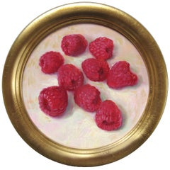 Raspberries- 21st Century Contemporary Still-life Painting by Dutch Painter
