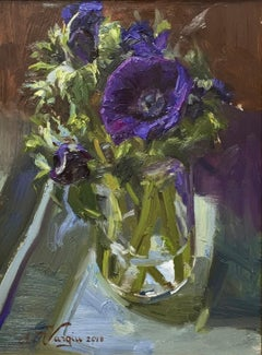 Annemoons- 21st Century Contemporary Still-life Painting of flowers