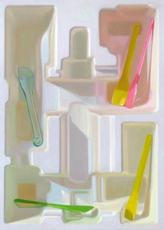 Ice scoops- 21st Century Contemporary Still-life Painting of plastic