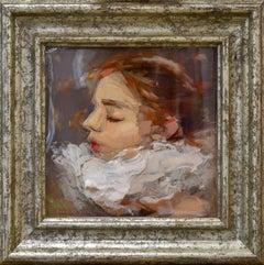Enprofil - Portrait of a girl made of epoxy resin by Dutch artist Anne-Rixt Kuik