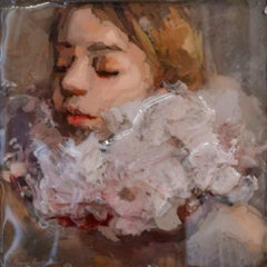 Violet - Anne-Rixt Kuik, 21st Century Contemporary Portrait made of Epoxy Resin