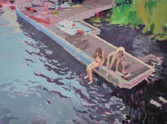 Bathing - 21st Century Contemporary Oil Painting by Dutch artist Eric Schutte