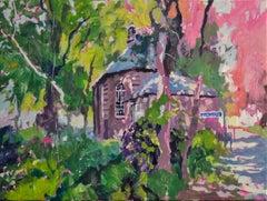 Van Gogh Church - Eric Schutte, 21st Century Contemporary Dutch Oil Painting