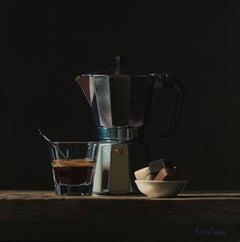 Espressomaker With Treats - Heidi Von Faber 21st Century Contemporary Still-Life