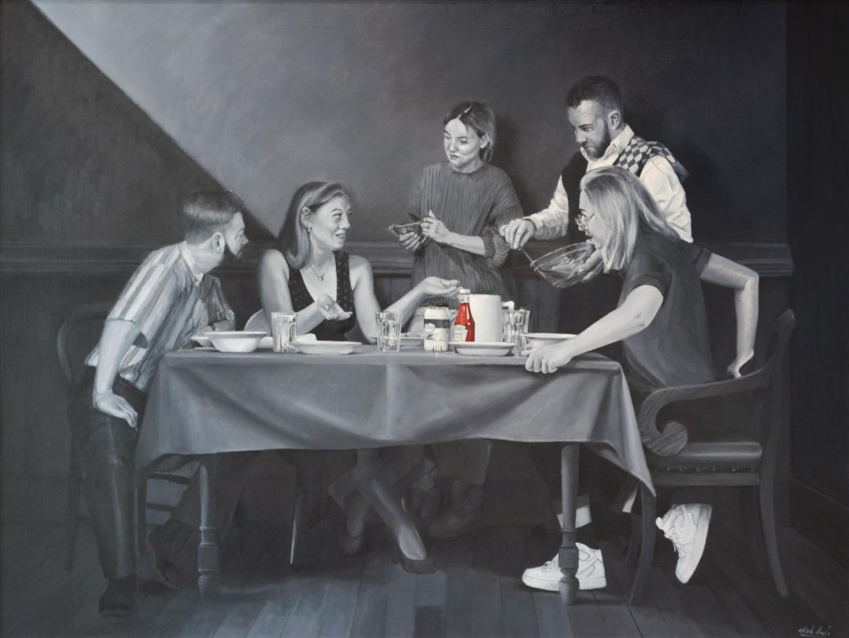The Potato Eaters - Dirk Bal, 21st Century Oil Painting