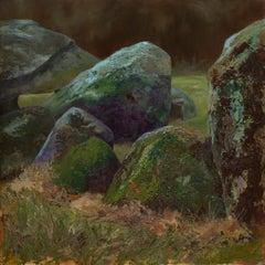 Boulders- 21st Century Dutch Landscape Painter by Dutch artist Esther Schlebos