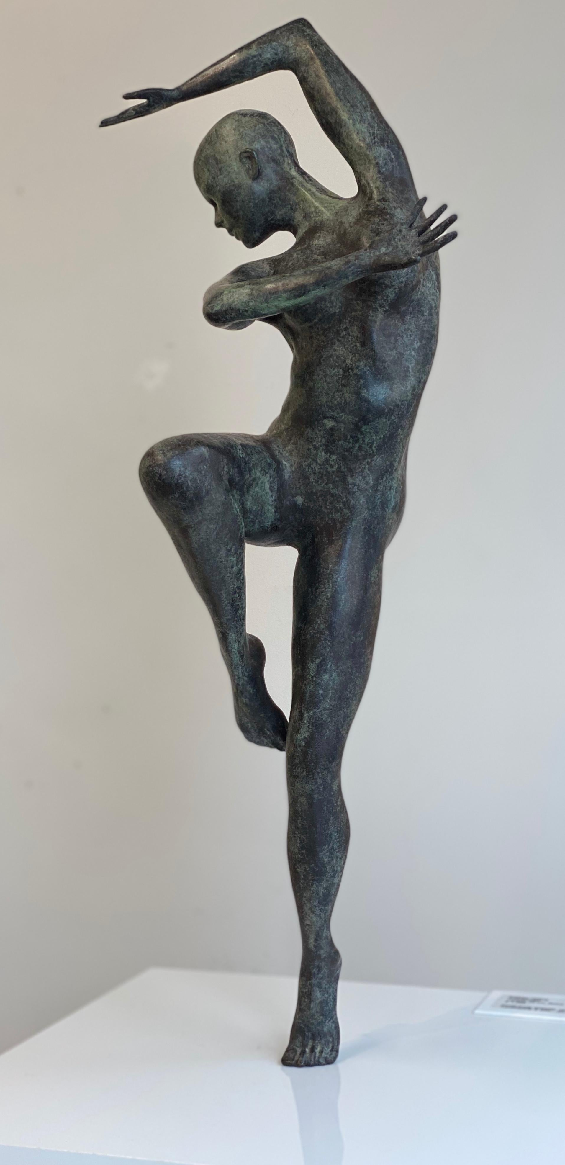 Freedom - Andries Velting 21st Century Contemporary Bronze Sculpture Patina