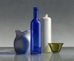 Blue-21st Century Dutch  Still-life painting by Henk Boon