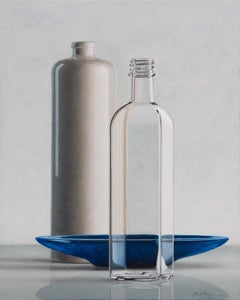 Composition with blue scale- 21s century Dutch still-life painting by Henk Boon