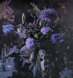 The Color Purple- 21st Century Dutch Still-life with flowers painting