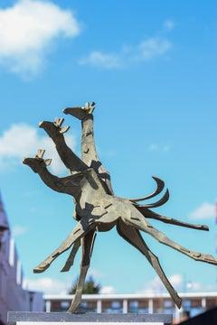 Giraffes - 21st Century Contemporary Bronze Sculpture by Antoinette Briet
