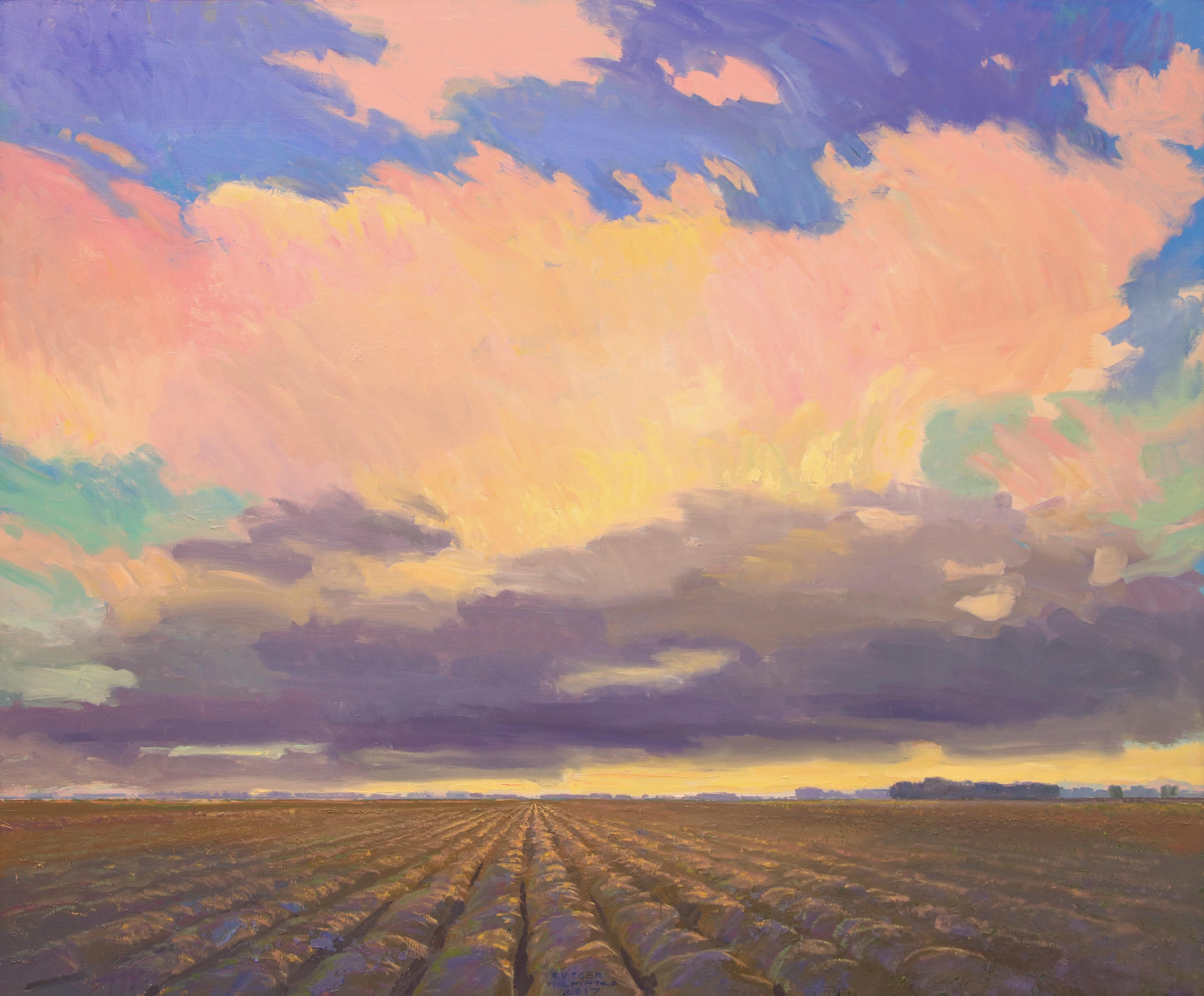 Evening Sky - 21st Century Contemporary Oil Painting by Rutger Hiemstra