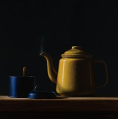 Yellow Teapot - 21st Century Contemporary Oil Painting by Heidi von Faber