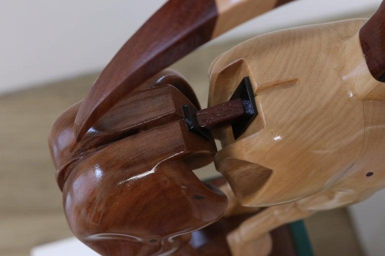 Equus Capricornus - 21st Century Contemporary Wooden Sculpture by Jos de Wit For Sale 6