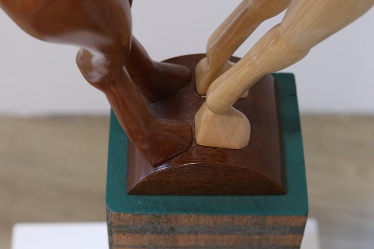 Equus Capricornus - 21st Century Contemporary Wooden Sculpture by Jos de Wit For Sale 7
