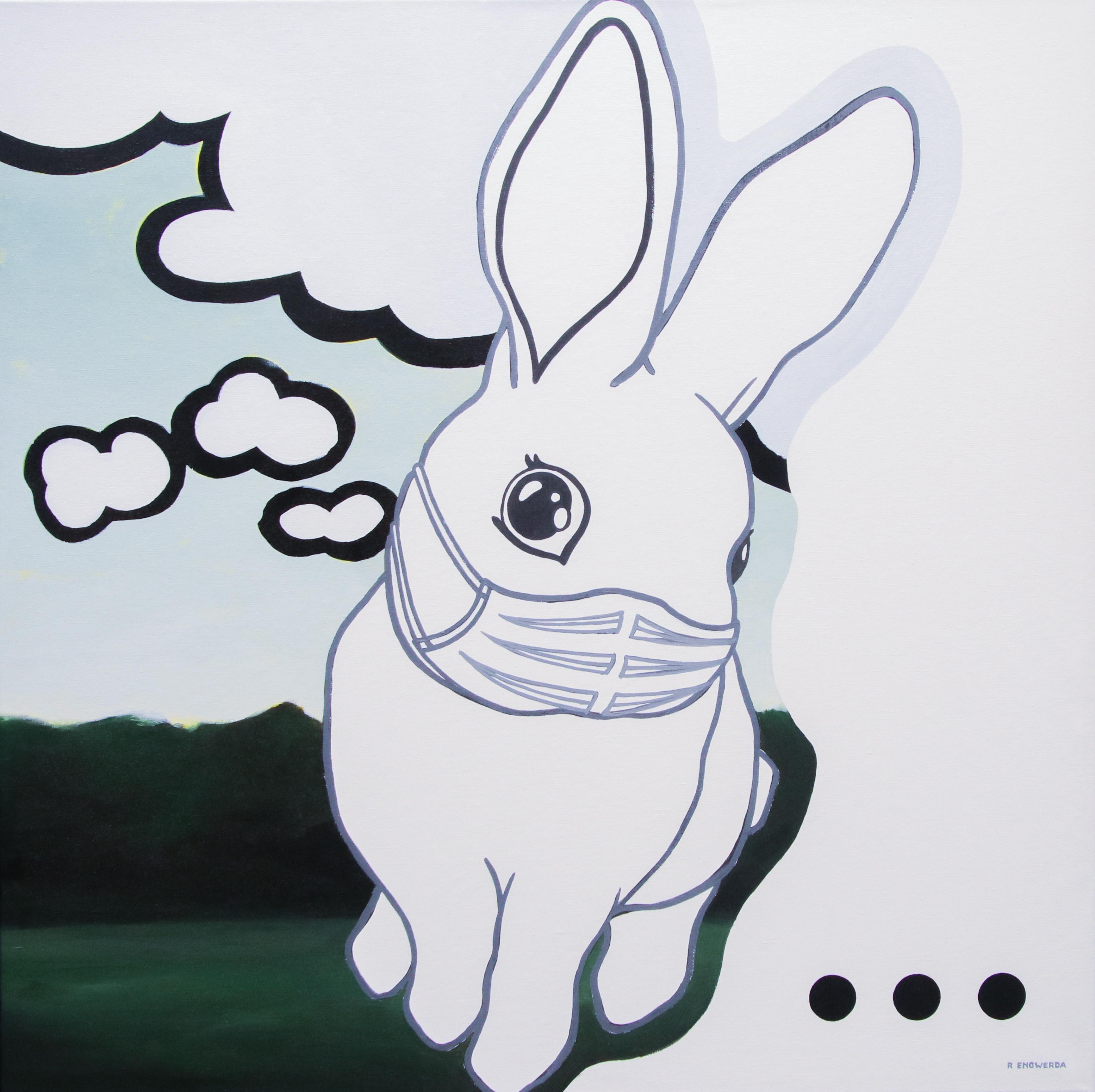 Lockdown Painting I - 21st Century Contemporary Acrylic by Rineke Engwerda