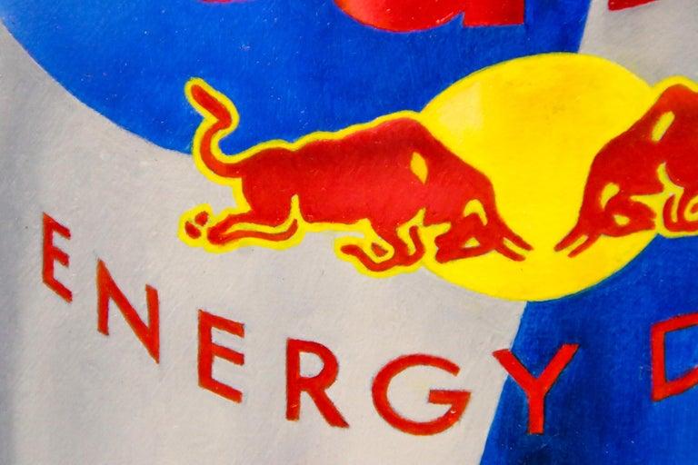 Poppy versus Red Bull - 21st Century Contemporary Still-Life by Dutch JP Marsman For Sale 1