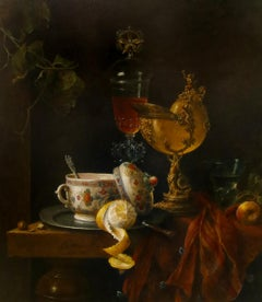 Still-Life with Shell Cup & Venetian Glass - 21st Century Contemporary Oil Paint