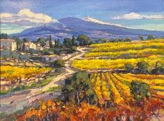 Mont Ventoux, route de la Vaison la Romaine-21st Century Impressionist Painting