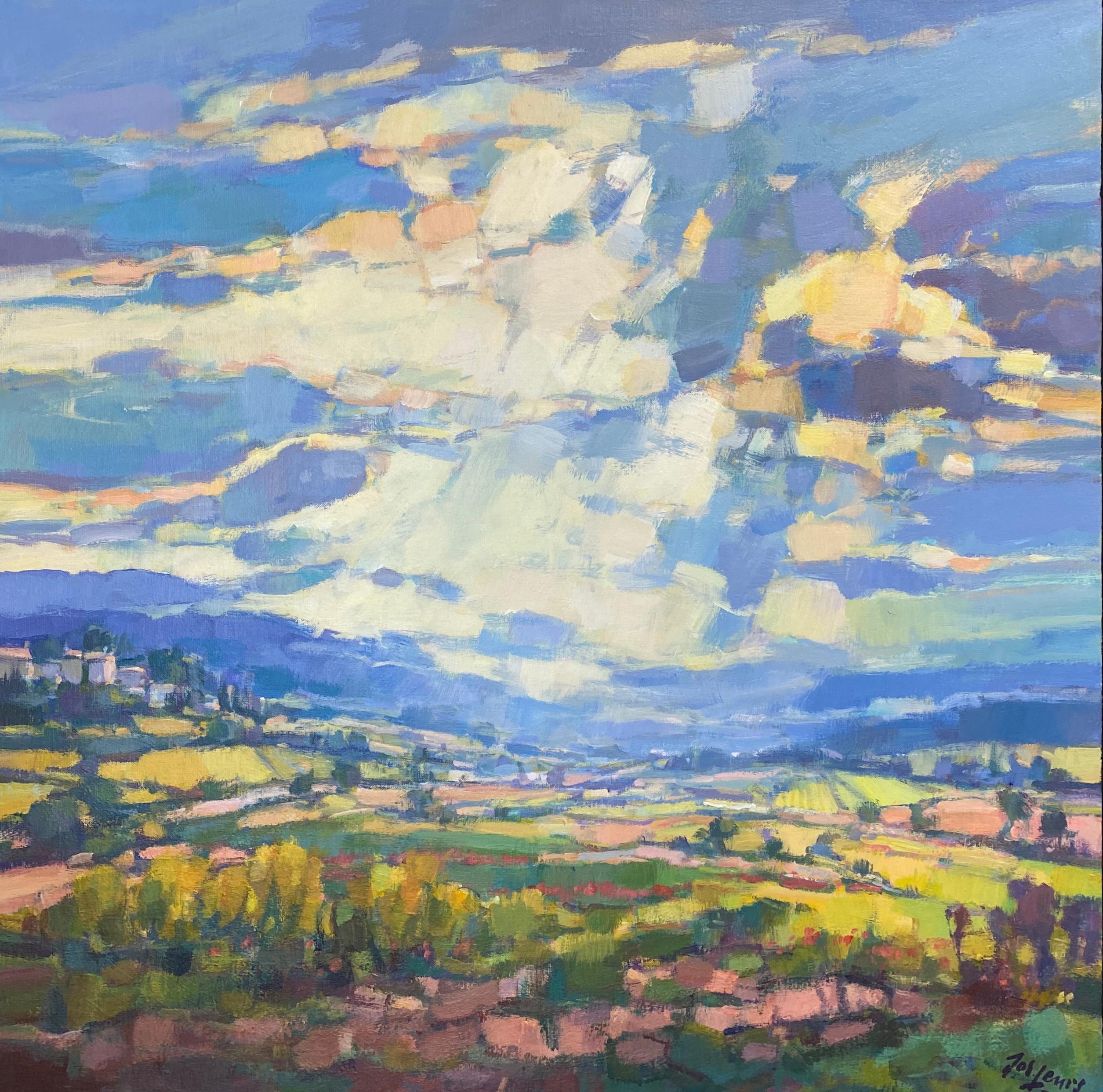 Matin en Provence-21st Century Contemporary Impressionist landscape Painting