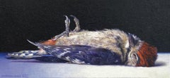 Juvenile - 21st Century Contemporary Oil Still-Life Painting of a Dead Bird