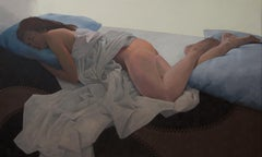 Sleeping Woman - 21st Century Contemporary Oil Painting of a Nude Woman
