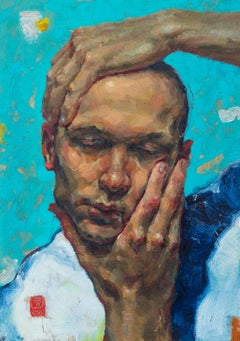 Don't loose your head - 21st Century Contemporary Portrait Painting