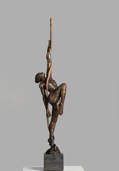 Cirque du Soleil, 21st Century Contemporary Bronze Sculpture of an Aerial Dancer
