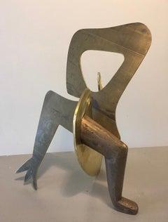 Hybride II- 21st Century Contemporary Brass Sculpture of Dutch Artist