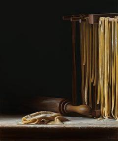 Pasta Drying Rack- 21st Century Contemporary Still-life Painting