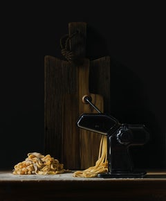 Pastamachine- 21st Century Contemporary Still-life Painting of Italian Pasta