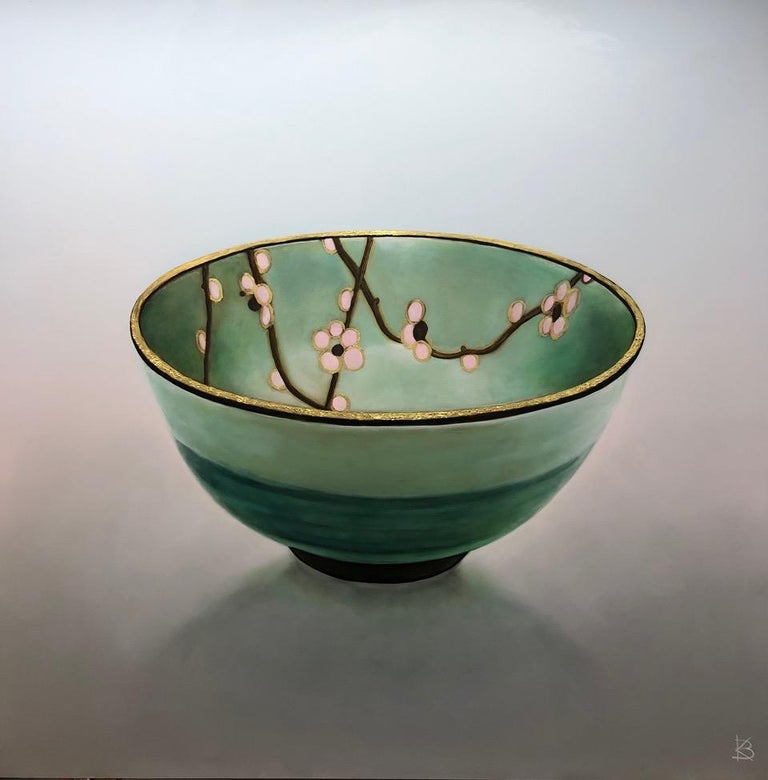 Kees Blom Figurative Painting - Bowl 1.3 'Patience' - 21st Century Contemporary Painting of a Japanese Bowl