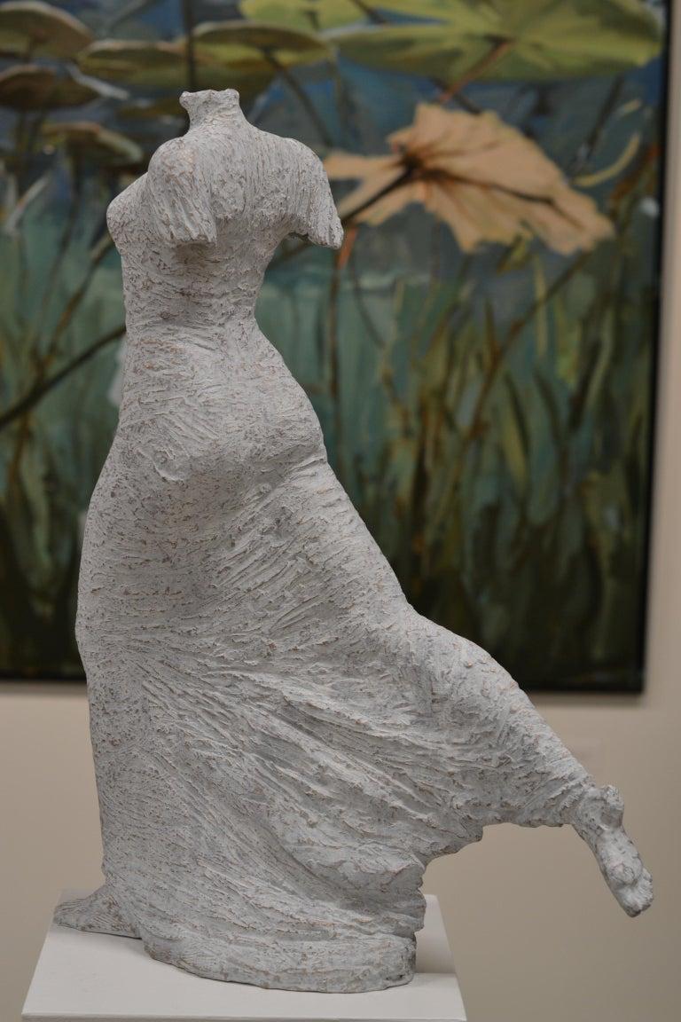 Eva Steiner  Figurative Sculpture - Facile- 21st Century, Contemporary Bronze Sculpture of a woman by Eva Steiner